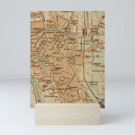 Vintage Krakow Poland Map (1911) Mini Art Print