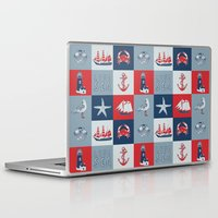 nautical Laptop & iPad Skins featuring Nautical by Julscela