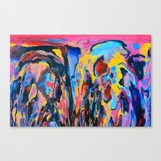 Sunset Oil Canvas Print
