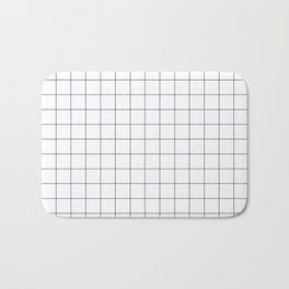 Chek - check grid simple minimal black and white modern urban brooklyn nashville hipster gifts Bath Mat