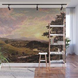 View Near Stockbridge, Massachusetts by Frederic Edwin Church Wall Mural