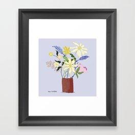 Daisies overflowing Framed Art Print