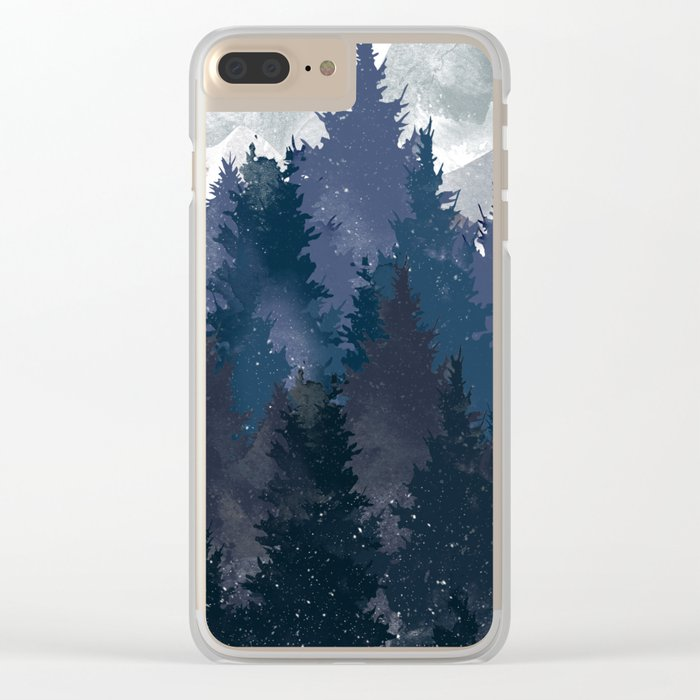 Winter i will never forget you Clear iPhone Case