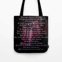 poem Tote Bags featuring Vision Poem by Amanda Letterman