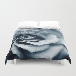 Rose - powder blue Duvet Cover