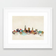 cleveland ohio skyline Framed Art Print