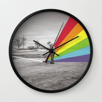 floyd Wall Clocks featuring Mr. Floyd by Blaz Rojs