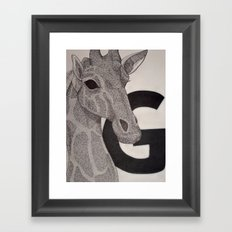 G is for Giraffe Framed Art Print