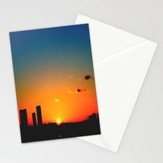 rainbow sunset Stationery Cards