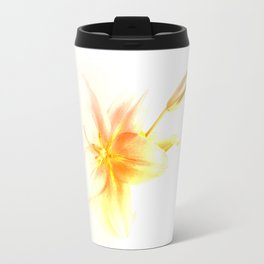 Pink and Yellow Tiger Lily - Dreamy Floral Photography - Flower Art Prints, T-shirts, Phone Cases... Travel Mug
