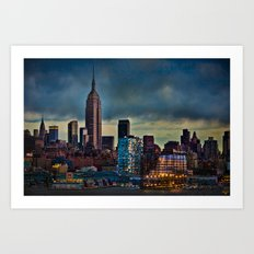 Midtown At Sunset Art Print