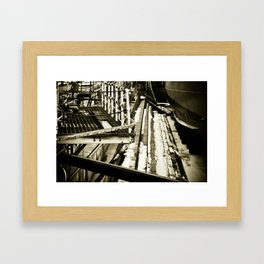 Orange Dock Framed Art Print