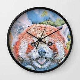 Watercolors-Red Panda Wall Clock
