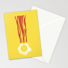 Bacon & Eggsclaimation point Stationery Cards
