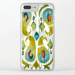 indian cucumbers balinese ikat print Clear iPhone Case