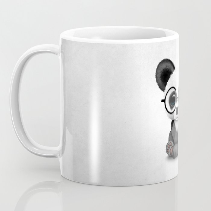 Cute Panda Bear Cub with Eye Glasses Coffee Mug