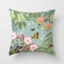 Orchard Fruits Throw Pillow