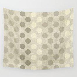 """Nude Burlap Texture and Polka Dots"" Wall Tapestry"