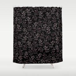 Ramitas black Shower Curtain