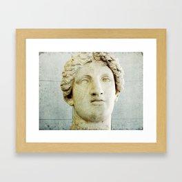 Male Roman Sculpture Framed Art Print