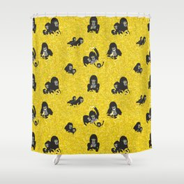 Gorillas and bananas by unPATO Shower Curtain