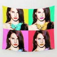 lana Wall Tapestries featuring LANA POP  by Lovejonny