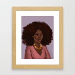 Kiara African American Woman  Framed Art Print