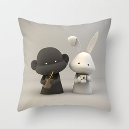 Coffee & Chocolate Milk Throw Pillow