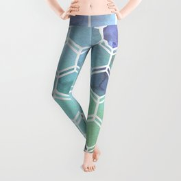 TWEEZY PATTERN OCEAN COLORS byMS Leggings