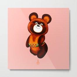 Misha - The Olympic Bear Metal Print