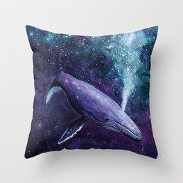 Galaxy Whale Throw Pillow