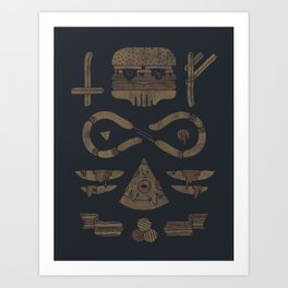 Fast Food Occult Art Print
