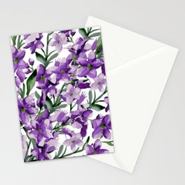 Lilac. Watercolor Stationery Cards