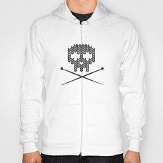 Knitted Skull (White on Black) Hoody