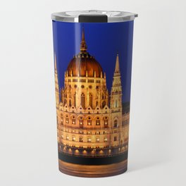 Panorama view of the famous Hungarian Parliament Travel Mug