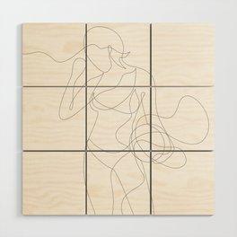 Woman with Basketball Wood Wall Art
