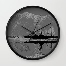 Knik River Mts. Pop Art - 3 Wall Clock