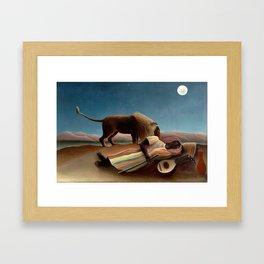 Henri Rousseau - The Sleeping Gipsy Framed Art Print