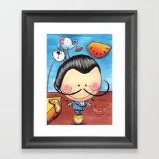 Salvador Dali, Children Illustration, Art for kids, colorful art prints Framed Art Print