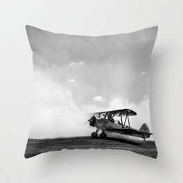 Consumed by smoke Throw Pillow