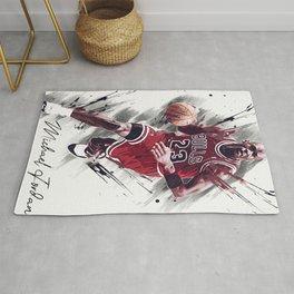 basketball player art 13 Rug