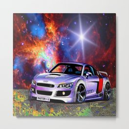 Cosmic Audie Super car Metal Print