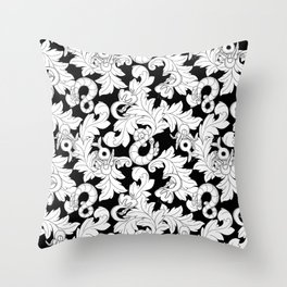 You and Me_ Background Black Throw Pillow