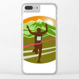 Marathon Finisher Oval Clear iPhone Case