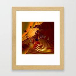 Orange glowing abstract energy Framed Art Print