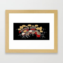 Large Drum Kit Framed Art Print
