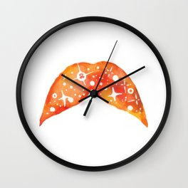Fire of the suns space stache Wall Clock