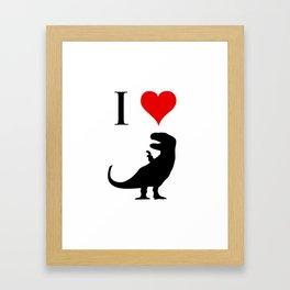I Love Dinosaurs - T-Rex Framed Art Print