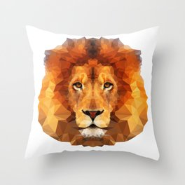 Geometric Lion Throw Pillow