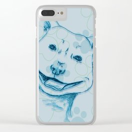 Happy PitBull Clear iPhone Case